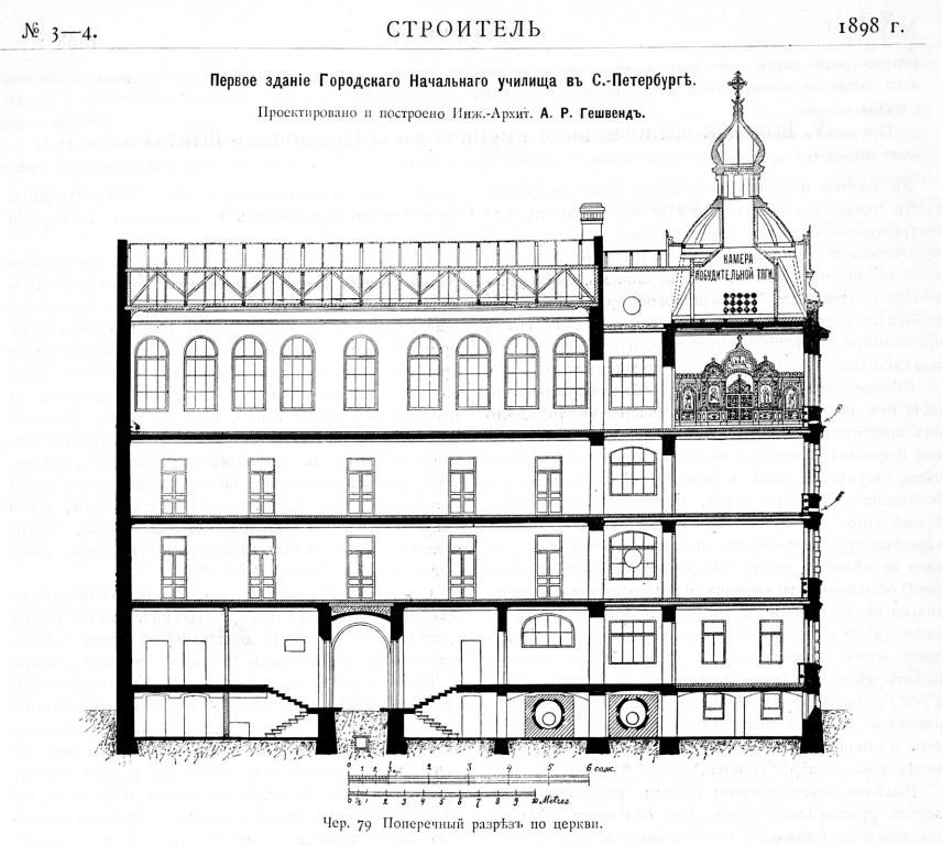 Домовая церковь Рождества Пресвятой Богородицы при бывшем Училищном доме в память Императрицы Екатерины II, Санкт-Петербург