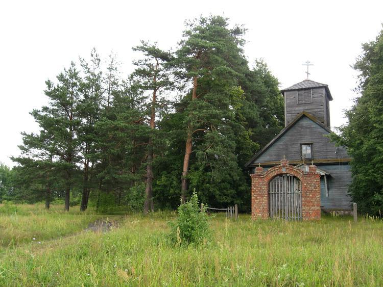 Латвия, Даугавпилсский край, г. Даугавпилс, Вилькели. Неизвестная старообрядческая моленная, фотография. общий вид в ландшафте, Общий вид в пейзаже