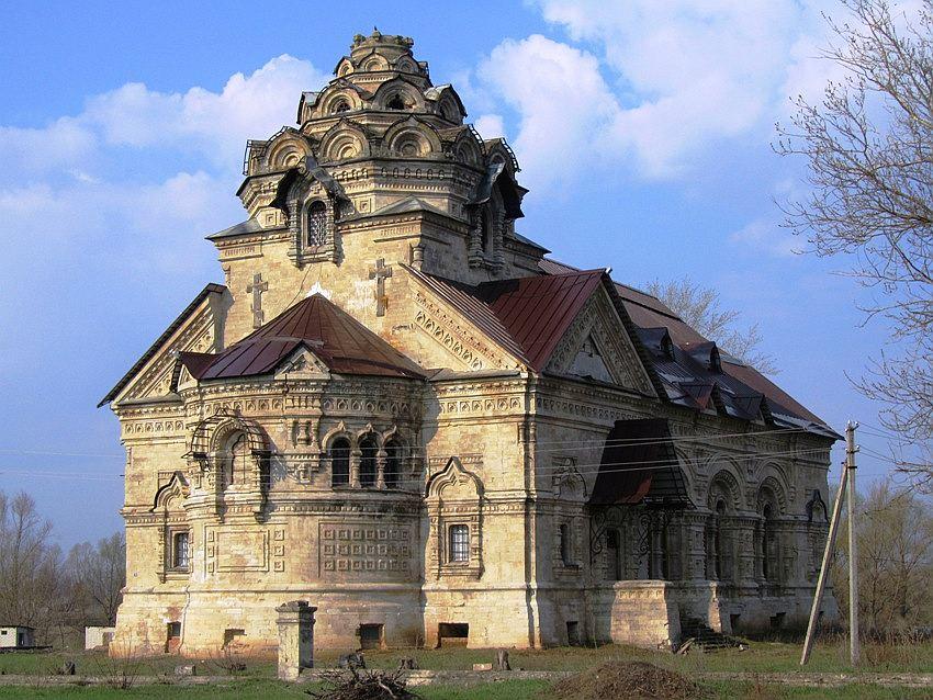 Липецкая область, Данковский район, Берёзовка. Церковь Димитрия Солунского, фотография. фасады, вид с северо-востока