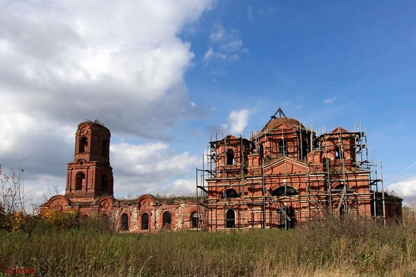 Церковь Воздвижения Креста Господня-Грязновка-Лебедянский район-Липецкая область