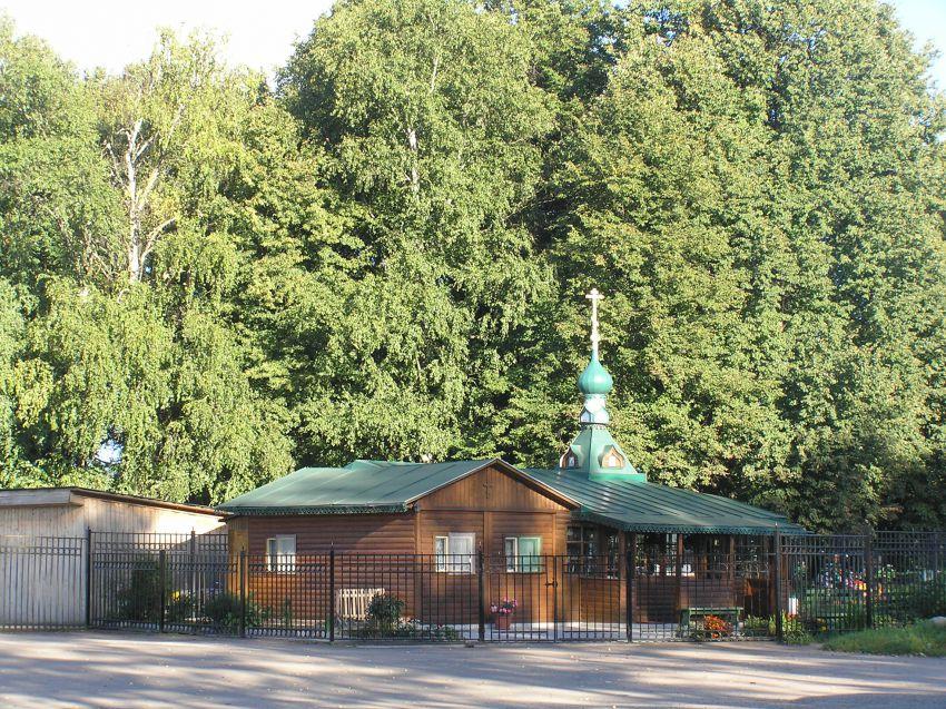 Московская область, Сергиево-Посадский городской округ, Деулино. Неизвестная часовня, фотография. общий вид в ландшафте