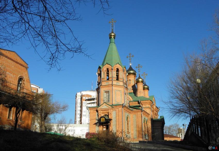 Хабаровский край, Хабаровск, город, Хабаровск. Церковь Иннокентия, епископа Иркутского, фотография. фасады
