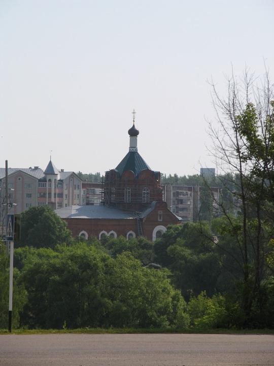 Липецкая область, Данковский район, Данков. Церковь Иоанна Богослова, фотография. общий вид в ландшафте