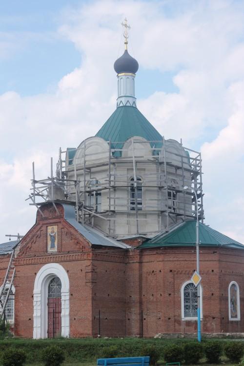 Липецкая область, Данковский район, Данков. Церковь Иоанна Богослова, фотография. фасады