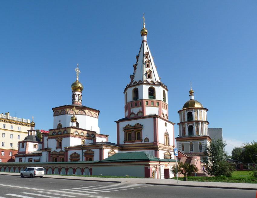 Иркутская область, Иркутск, город, Иркутск. Собор Богоявления Господня, фотография. фасады