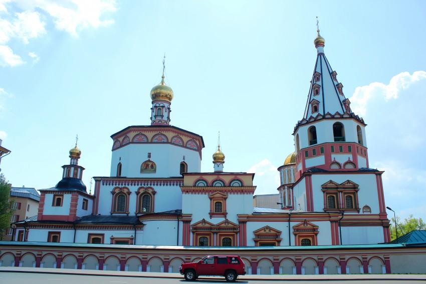 Иркутская область, Иркутск, город, Иркутск. Собор Богоявления Господня, фотография. фасады, Вид севера