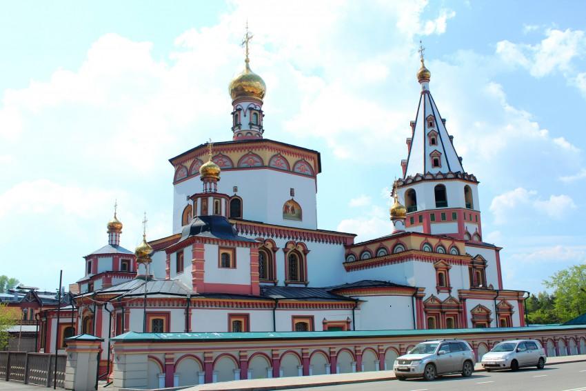 Иркутская область, Иркутск, город, Иркутск. Собор Богоявления Господня, фотография. фасады, Вид северо-востока