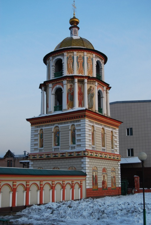 Иркутская область, Иркутск, город, Иркутск. Собор Богоявления Господня, фотография. фасады, Угловая башня, вид с северо-запада