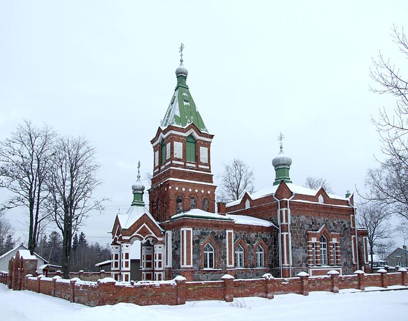 Эстония, Ида-Вирумаа, Лохусуу. Церковь Богоявления Господня, фотография. фасады, Вид с юго-запада