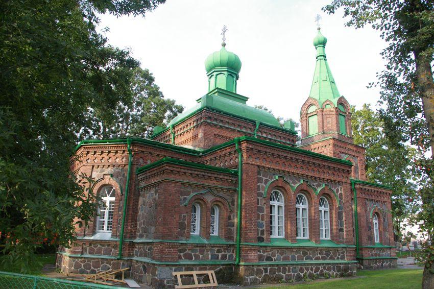 Эстония, Ида-Вирумаа, Йыхви (Jõhvi). Церковь Богоявления Господня, фотография. общий вид в ландшафте