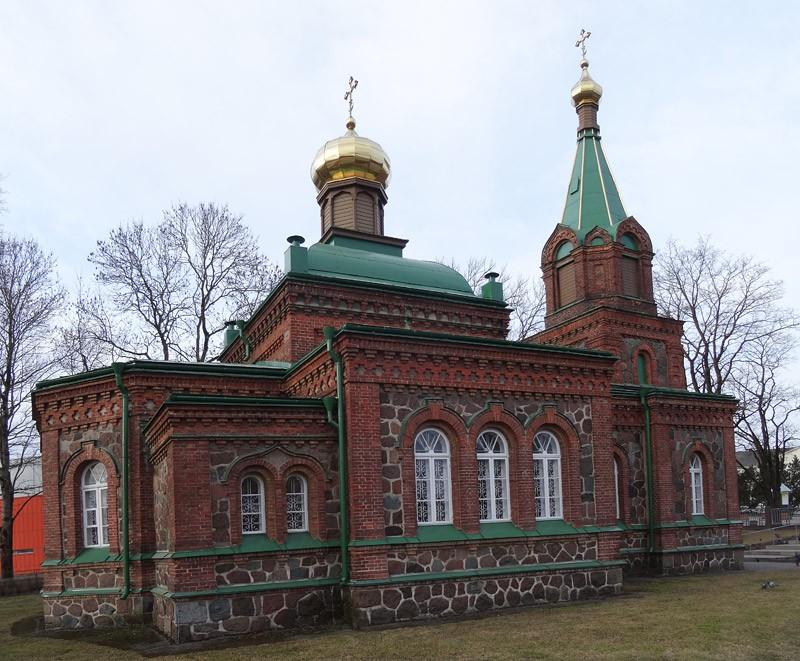 Эстония, Ида-Вирумаа, Йыхви (Jõhvi). Церковь Богоявления Господня, фотография. фасады