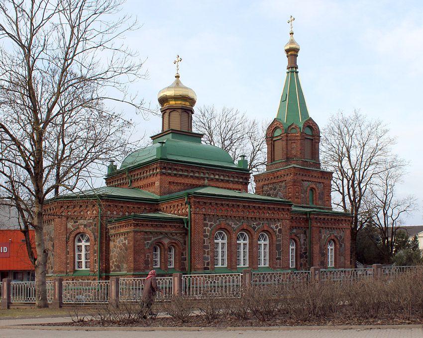 Эстония, Ида-Вирумаа, Йыхви (Jõhvi). Церковь Богоявления Господня, фотография. фасады, Фрагмент фасада