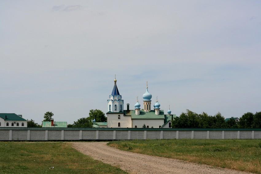 Краснодарский край, Тимашёвский район, Роговская. Монастырь Марии Магдалины, фотография. общий вид в ландшафте