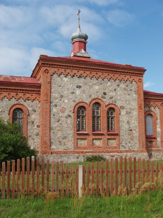 Латвия, Дундагский край, Колка. Церковь Рождества Христова, фотография. фасады