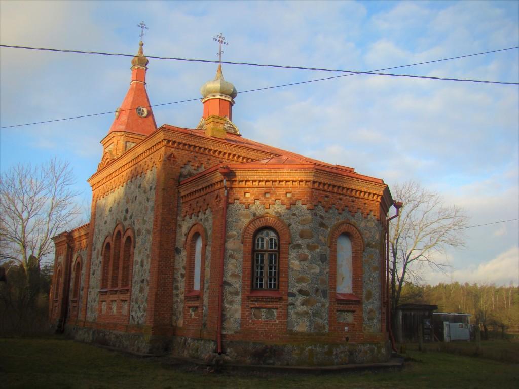 Латвия, Дундагский край, Колка. Церковь Рождества Христова, фотография. , Вид со стороны аспиды алтаря