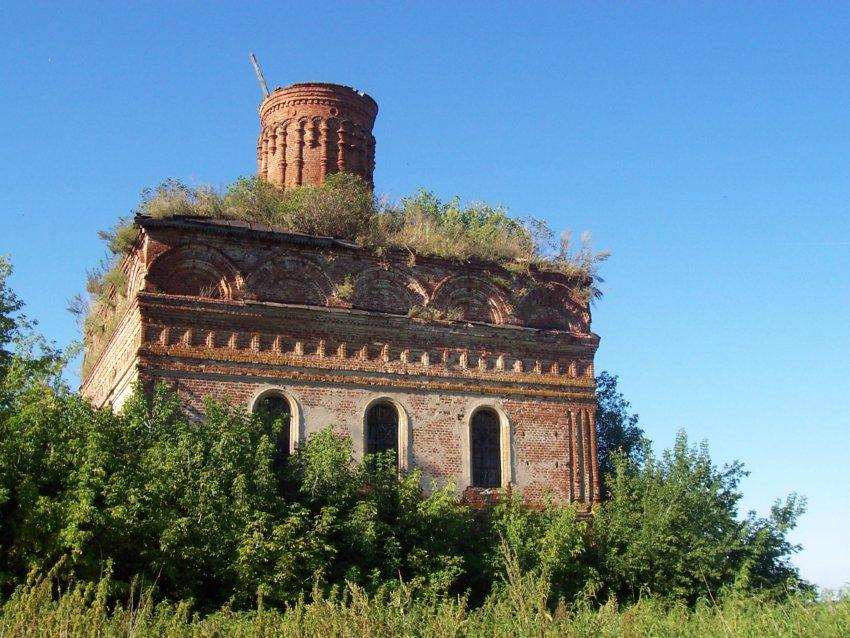 Рязанская область, Ряжский район, Нагорное. Церковь Константина и Елены, фотография. фасады