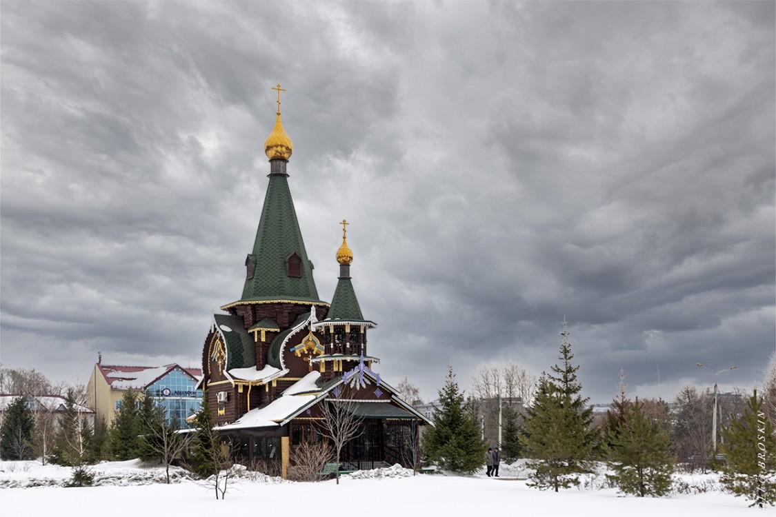 Омская область, Омск, город, Омск. Церковь Всех Святых в Казачьем сквере, фотография. фасады