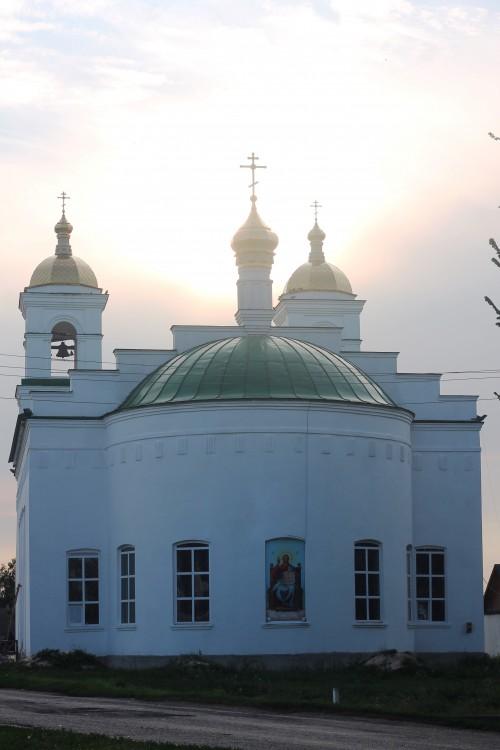 Липецкая область, Усманский район, Поддубровка. Церковь Рождества Христова, фотография. фасады