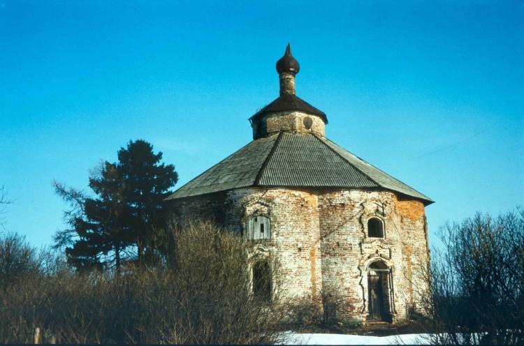 Тверская область, Торопецкий район, Гальяново (погост Псовец). Церковь Богоявления Господня, фотография. фасады, 1994