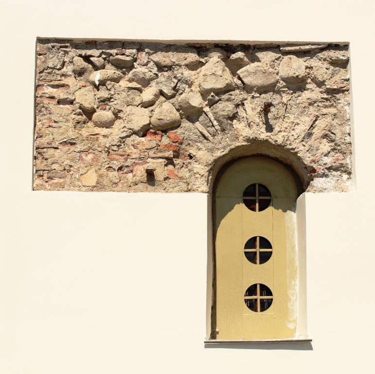 Прочие страны, Абхазия, Дранда. Успенско-Драндский монастырь. Собор Успения Пресвятой Богородицы, фотография. фасады, Фрагмент южного фасада