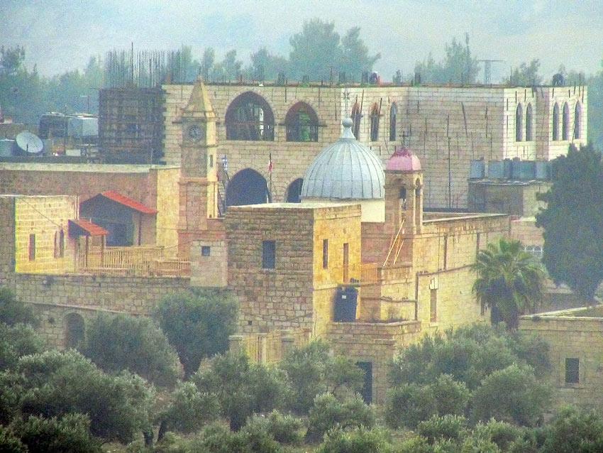 Прочие страны, Палестина, Вифлеем. Монастырь Георгия Победоносца, фотография. общий вид в ландшафте, Вид с юго-запада.