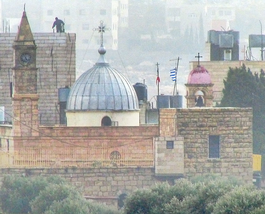 Прочие страны, Палестина, Вифлеем. Монастырь Георгия Победоносца, фотография. общий вид в ландшафте, Вид с запада.