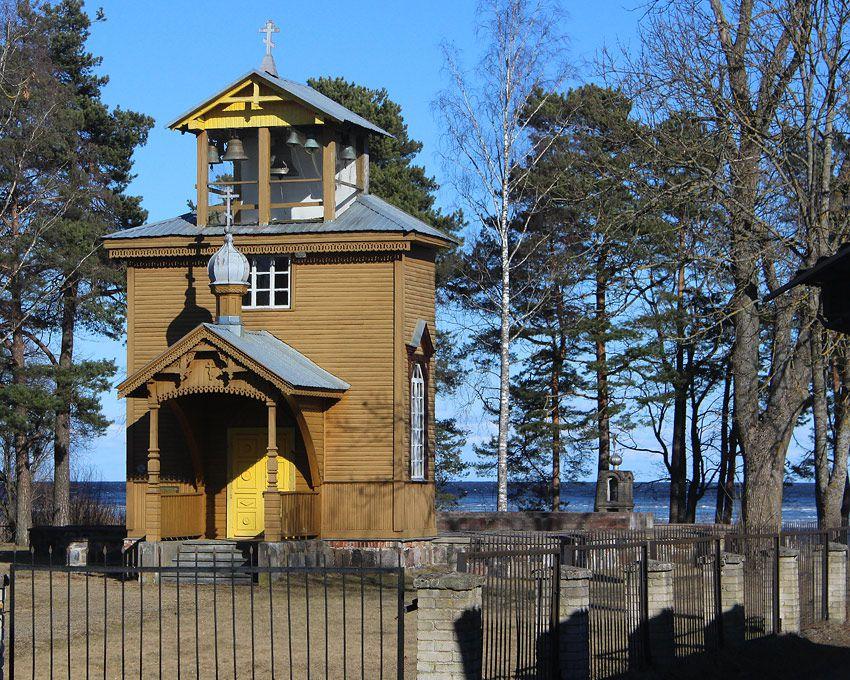 Эстония, Йыгевамаа, Рая (Raja küla). Старообрядческая моленная Николая Чудотворца, фотография. фасады