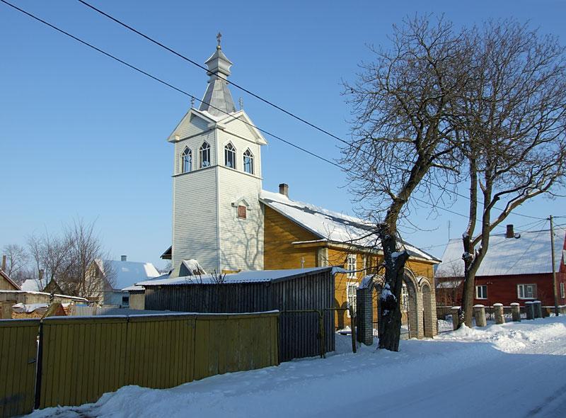 Эстония, Тартумаа, Калласте (Kallaste). Моленная Успения Пресвятой Богородицы, фотография. фасады, Вид с юго-запада