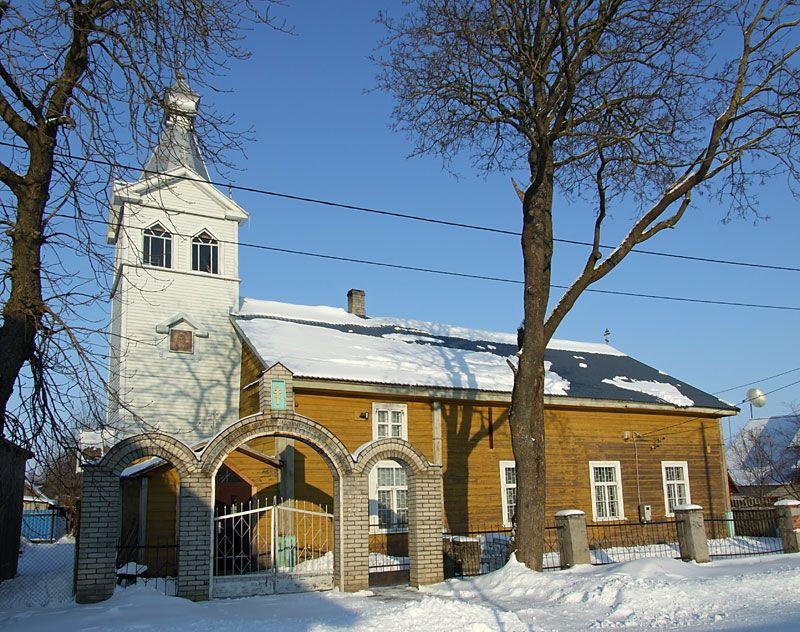 Эстония, Тартумаа, Калласте (Kallaste). Моленная Успения Пресвятой Богородицы, фотография. фасады, Вид с юга