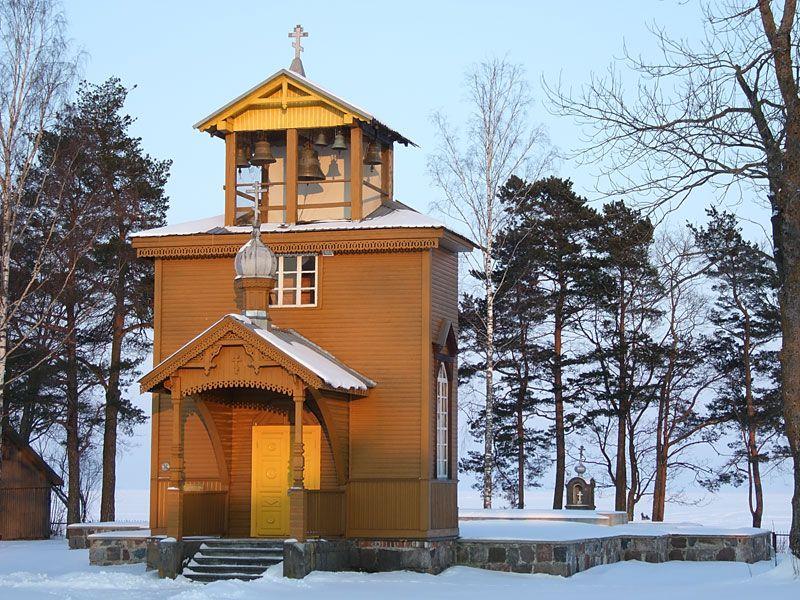 Эстония, Йыгевамаа, Рая (Raja küla). Старообрядческая моленная Николая Чудотворца, фотография. фасады, Вид сюго-запада