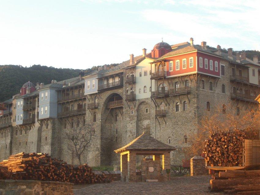 Иверский монастырь на горе Афон, Афон (Ἀθως)