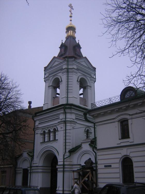 Украина, Киевская область, Киев, город, Киев. Введенский монастырь, фотография. общий вид в ландшафте