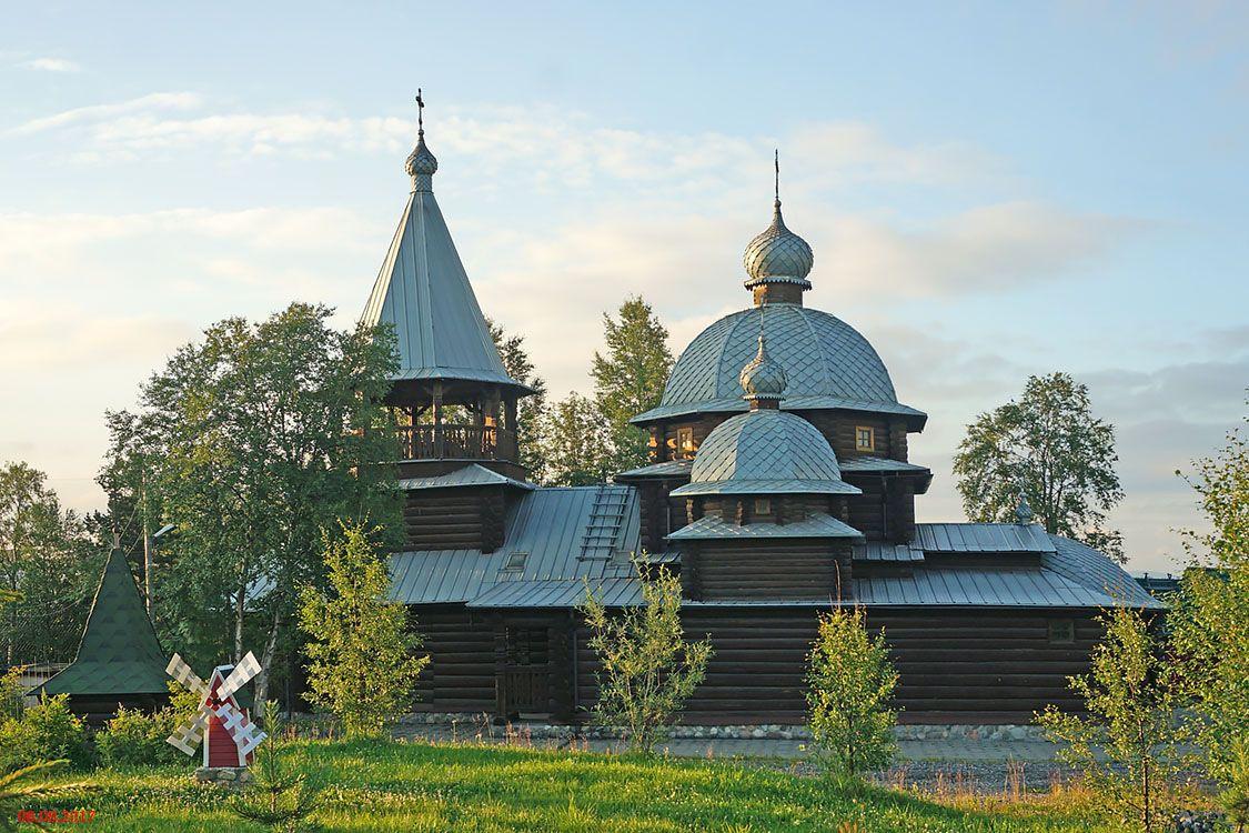 Мурманская область, Оленегорск, город, Оленегорск. Церковь Димитрия Прилуцкого, фотография. фасады