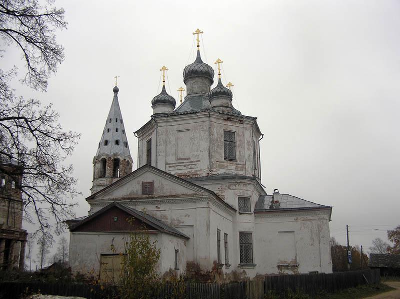 Костромская область, Солигаличский район, Корцово. Церковь Троицы Живоначальной, фотография. фасады