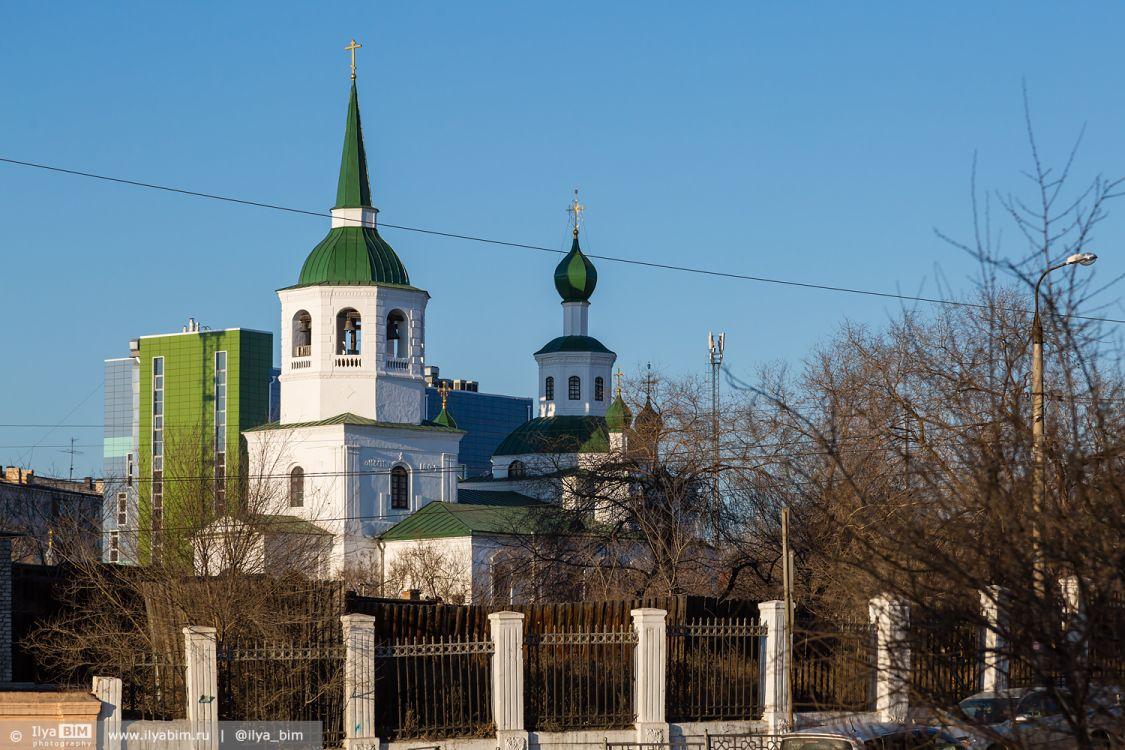 Республика Бурятия, Улан-Удэ, город, Улан-Удэ. Церковь Троицы Живоначальной, фотография. общий вид в ландшафте