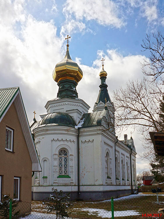 Эстония, Ляэне-Вирумаа, Тапа (Tapa). Церковь Рождества Ионна Предтечи, фотография. фасады