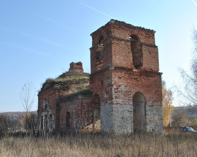 Тульская область, Ефремов, город, Слободское. Церковь Николая Чудотворца, фотография.
