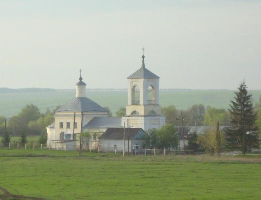 Тульская область, Ефремов, город, Мечнянка. Церковь Николая Чудотворца, фотография. общий вид в ландшафте