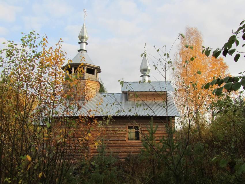 Вологодская область, Никольский район, Кумбисер. Часовня Покрова Пресвятой Богородицы, фотография. фасады, южный фасад