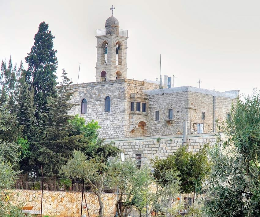 Прочие страны, Израиль, Иерусалим - Новый город. Монастырь Илии Пророка, фотография. фасады, Вид с юго-запада.