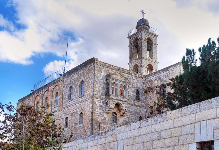 Прочие страны, Израиль, Иерусалим - Новый город. Монастырь Илии Пророка, фотография. фасады, Фрагмент фасада монастыря. Вид с северо-запада.