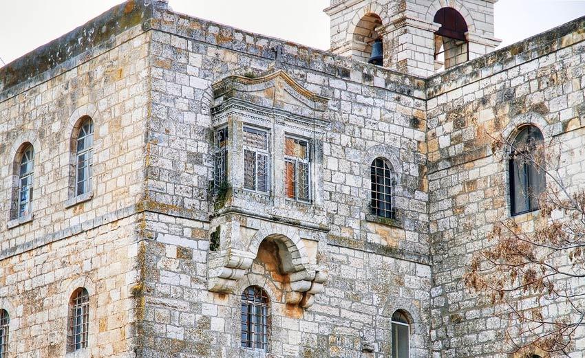 Прочие страны, Израиль, Иерусалим - Новый город. Монастырь Илии Пророка, фотография. архитектурные детали, Эркер на западной стене северной пристройки.