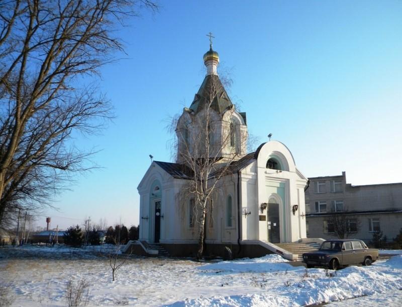 Белгородская область, Белгородский район, Беломестное. Церковь Богоявления Господня, фотография. общий вид в ландшафте