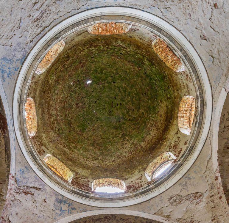 Липецкая область, Липецкий район, Круглое. Церковь Рождества Христова, фотография. интерьер и убранство, Подкупольное пространство