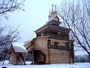 Нагатинский затон. Музей деревянного зодчества в Коломенском. Церковь Георгия Победоносца из Рождественского (Среднего на Ёрге) погоста