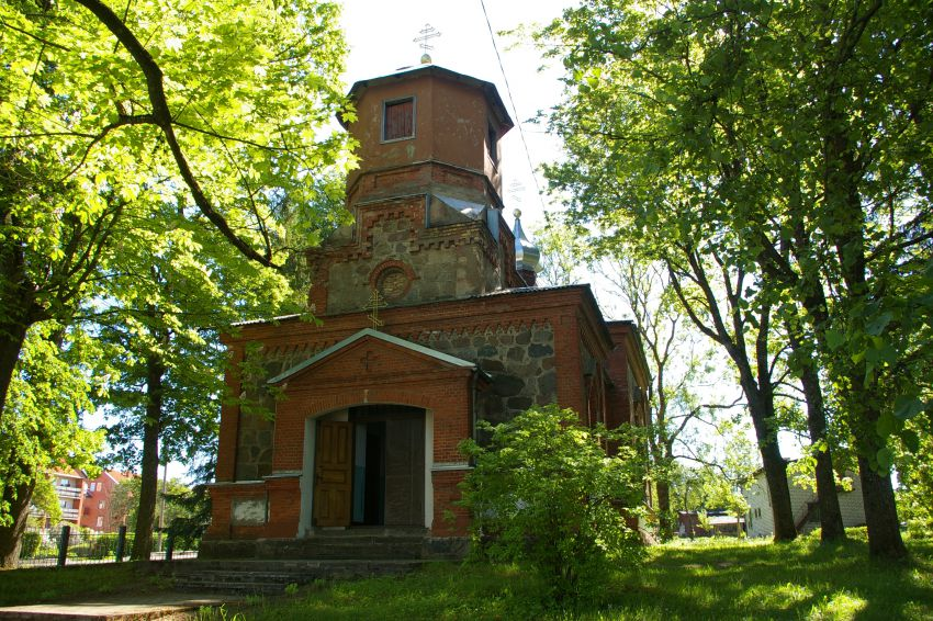 Латвия, Салдусский край, Салдус. Церковь Богоявления Господня, фотография. фасады