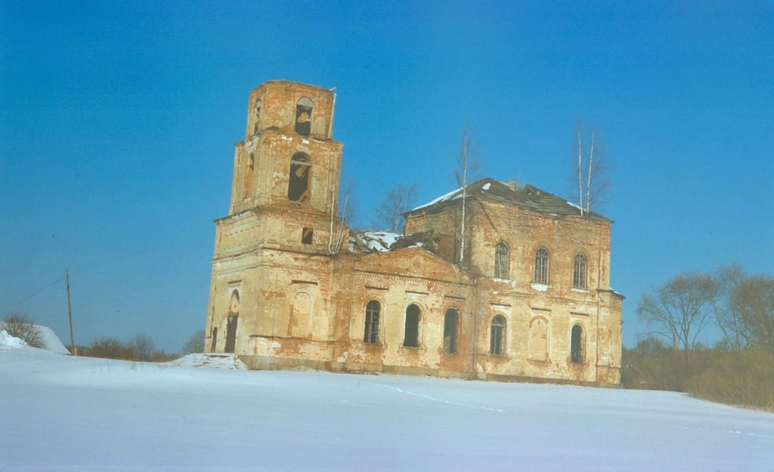 Тверская область, Андреапольский район, Горки (Погост Жукопа). Церковь Богоявления Господня, фотография. фасады, фото 1998