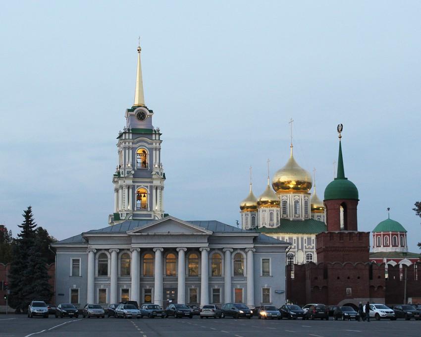 Тульская область, Тула, город, Тула. Кремль, фотография. общий вид в ландшафте, Вид на Кремль с площади Ленина