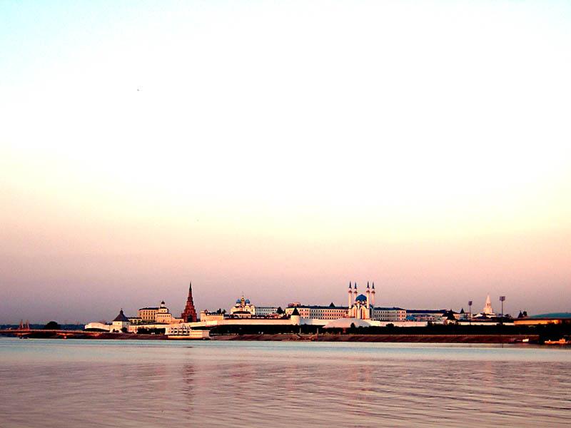 Республика Татарстан, Казань, город, Казань. Кремль, фотография. общий вид в ландшафте