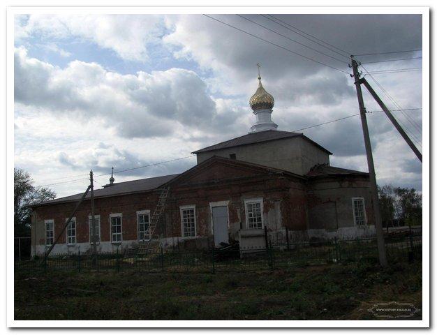 Рязанская область, Ряжский район, Новое Еголдаево. Церковь Николая Чудотворца, фотография. фасады
